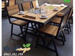 Mẫu Bàn ghế nhà hàng cf42 đẹp, nhận giá rẻ hàng đầu Hà Nội tại Nội thất Mộc STyle