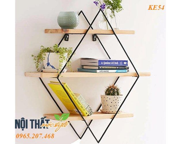 Mẫu Kệ trang trí KE54 đẹp tinh tế, giá xuất xưởng rẻ nhất Hà Nội tại Nội thất Mộc Style
