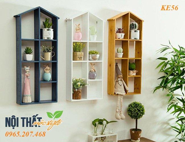 Mẫu Kệ trang trí KE56 đẹp với tạo hình ấm áp từ ngôi nhà, giá rẻ hàng đầu Hà Nội tại Mộc Style