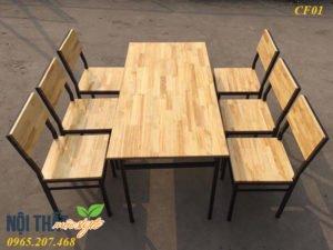Bàn ghế nhà hàng CF01 giá xuất xưởng rẻ nhất tại Nội thất Mộc Style