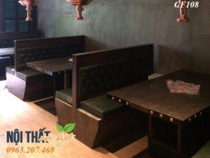 Bàn ghế nhà hàng lẩu nướng CF108 sang trọng, đẳng cấp