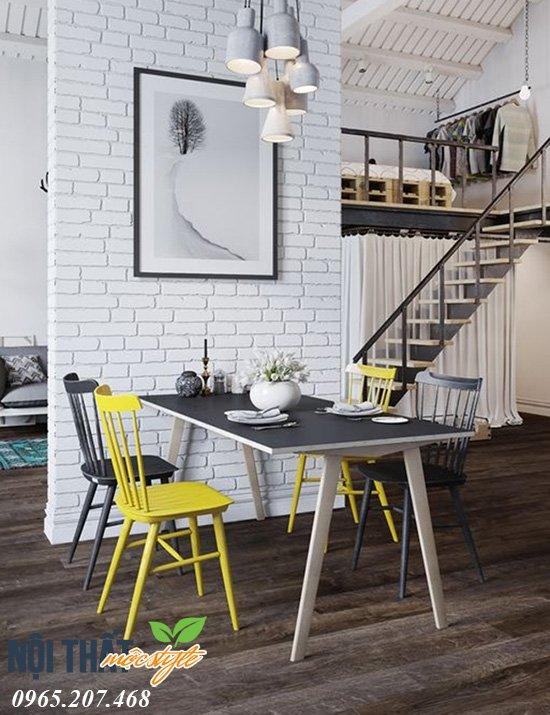 Ghế ăn Nika kết hợp ăn ý trong nội thất nhà ở phong cách homstay và Scandinavia