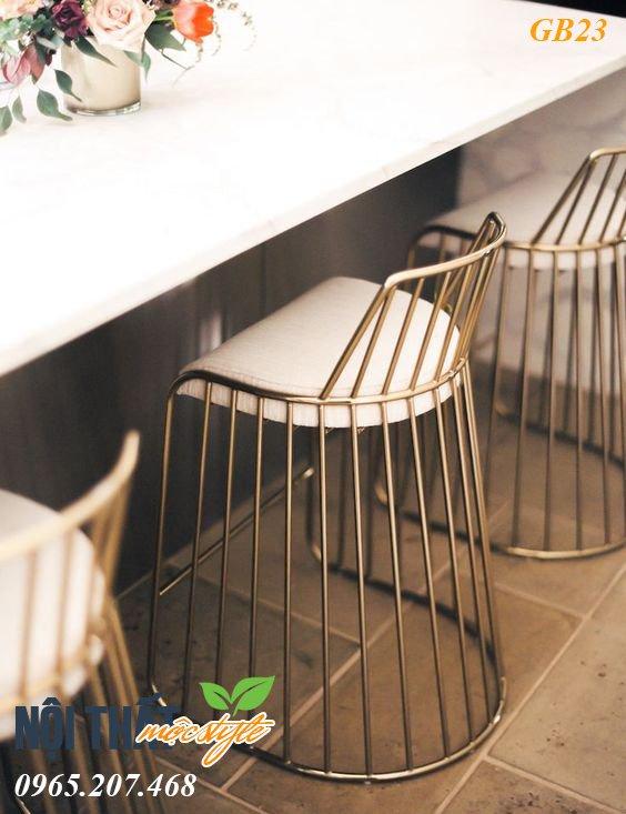 Ghế bar cafe GB23 với vẻ đẹp nữ hoàng và thiết kế mãn nhãn