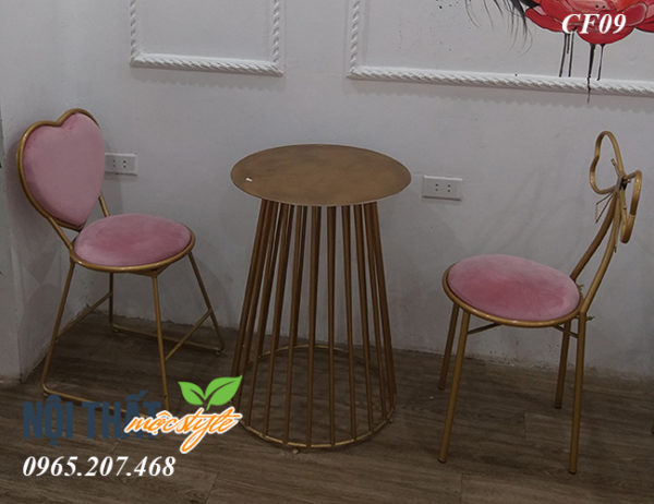 Bàn ghế trà sữa CF09 kiểu dáng đẹp, ngồi êm và rất chắc chắn