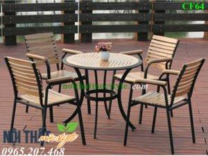 bàn ghế cafe CF64 đẹp sang trọng với thiết kế kiêu kỳ mà thoải mái, giá tốt nhất tại Nội thất Mộc Style