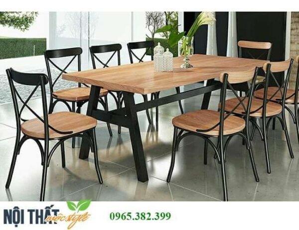 Bàn ghế nhà hàng cao cấp CF41 với tạo hình biến tấu đặc biệt
