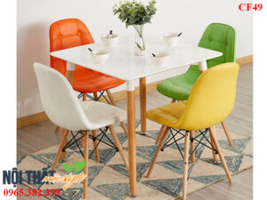 Bộ bàn ghế cafe CF49 nhỏ nhắn, xinh xắn, làm đẹp hơn mọi không gian