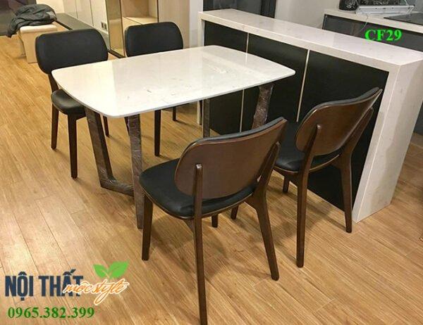 Ghế ăn PLC CF29 kết hợp hoàn hảo với bàn mặt đá phù hợp với không gian bếp nhà bạn