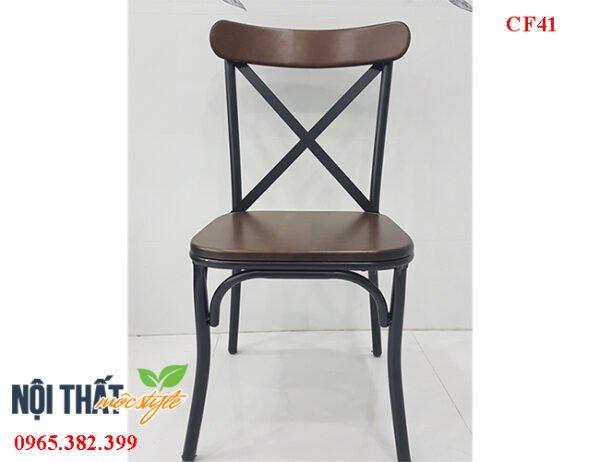 Thiết kế ghế cafe CF41 với phần lưng tựa X độc đáo