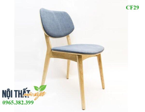 Thiết kế ghế ăn PLC CF29 bọc nệm nỉ Hàn cao cấp êm ái