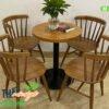 Bàn ghế cafe CF124 với lưng tựa cong điệu đà